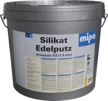 Mipa omítka silikát K2,K3 bílá a báze - Silikat Edelputz